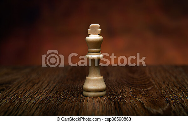 chess game with king on the table - csp36590863