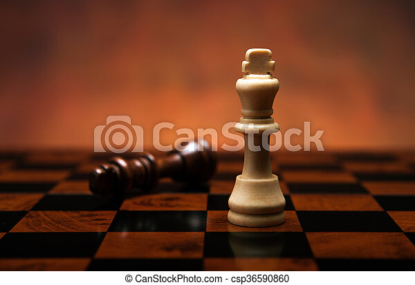 chess game with pieces on the table - csp36590860