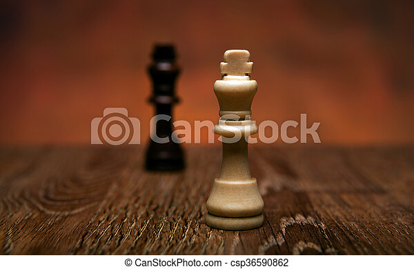 chess game with pieces on the table - csp36590862