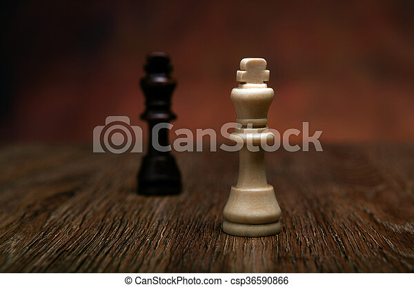 chess game with pieces on the table - csp36590866