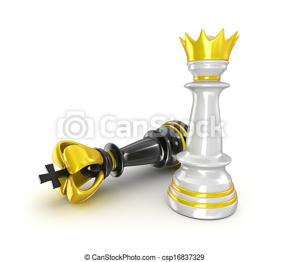 Chess isolated on white background - csp16837329