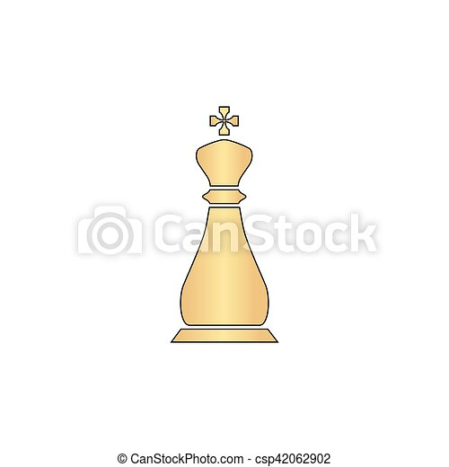 Chess king computer symbol - csp42062902