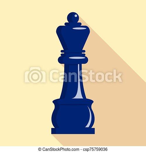 Chess king icon, flat style - csp75759036