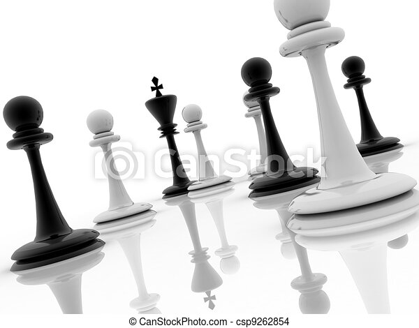 chess piece advising to strategic behavior  - csp9262854