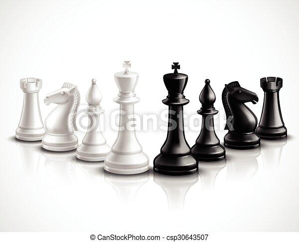 Superior Chess Pieces Illustration