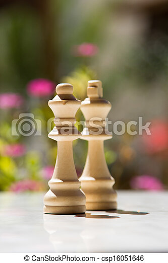 Chess Pieces on Table - csp16051646