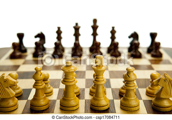 chess pieces on the board - csp17084711