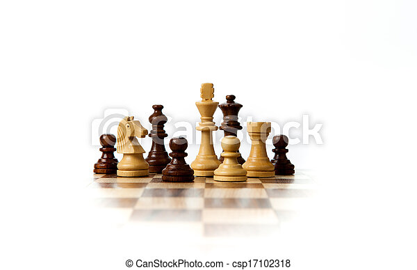 chess pieces on the board - csp17102318