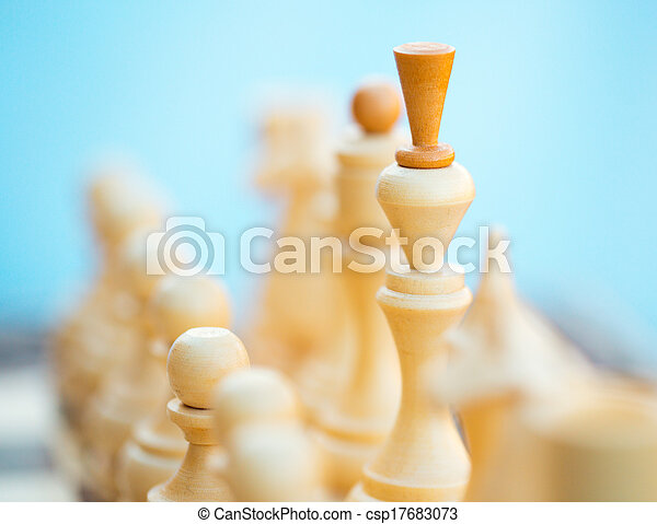 Chess pieces on the board - csp17683073