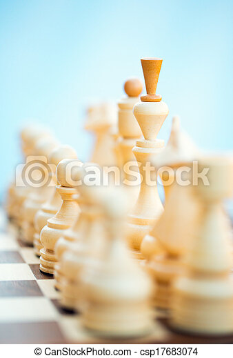 Chess pieces on the board - csp17683074