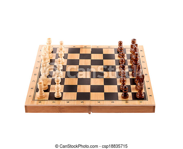 chess pieces on the board - csp18835715