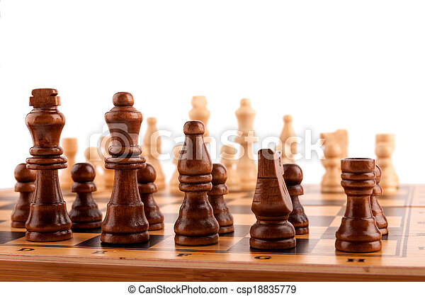 chess pieces on the board - csp18835779