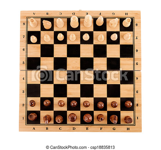 chess pieces on the board - csp18835813