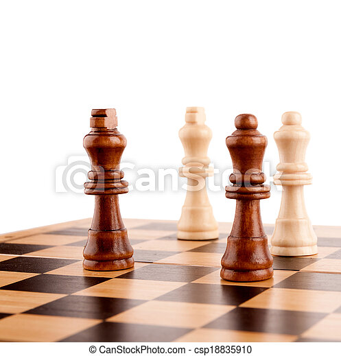 chess pieces on the board - csp18835910