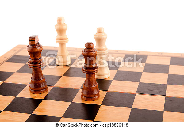 chess pieces on the board - csp18836118