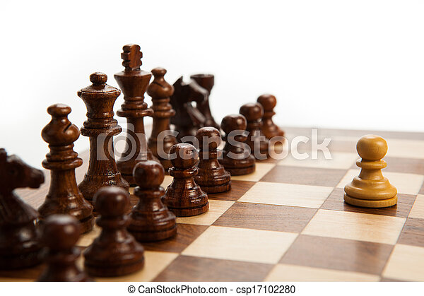 chess pieces on the board - csp17102280