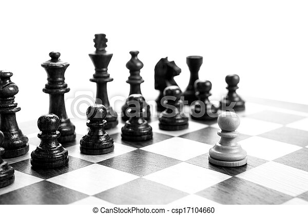 chess pieces on the board - csp17104660