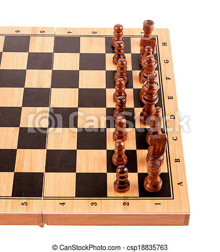 chess pieces on the board - csp18835763