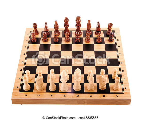 chess pieces on the board - csp18835868