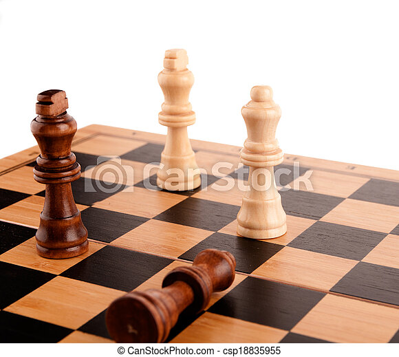 chess pieces on the board - csp18835955