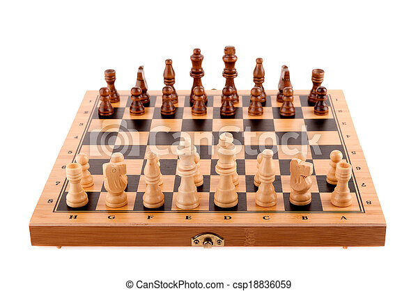 chess pieces on the board - csp18836059