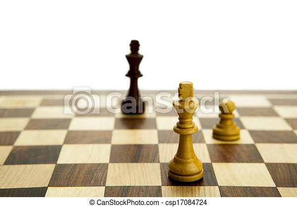 chess pieces on the board - csp17084724