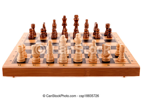 chess pieces on the board - csp18835726