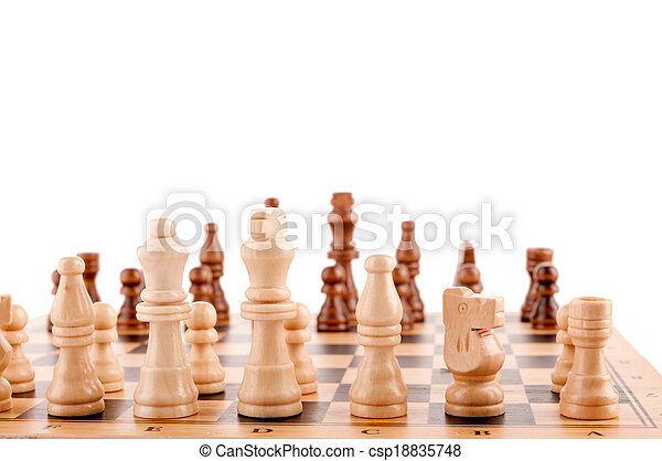 chess pieces on the board - csp18835748