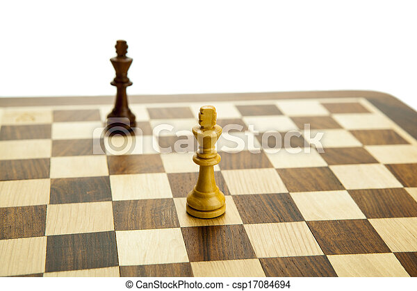 chess pieces on the board - csp17084694