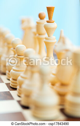 Chess pieces on the board - csp17843490