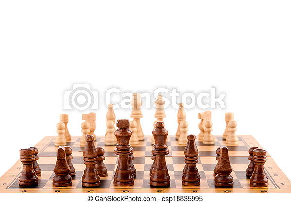 chess pieces on the board - csp18835995