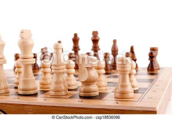 chess pieces on the board - csp18836096