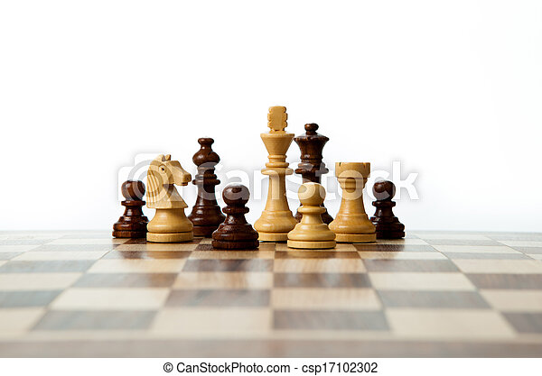 chess pieces on the board - csp17102302