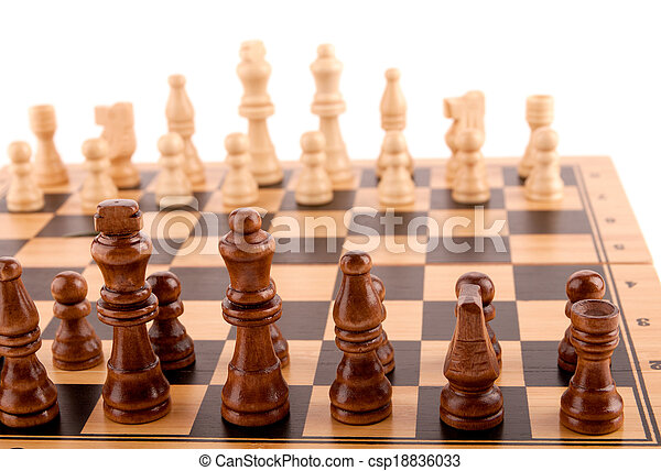 chess pieces on the board - csp18836033