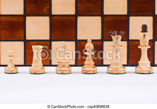 Chess pieces on the board - csp40898638