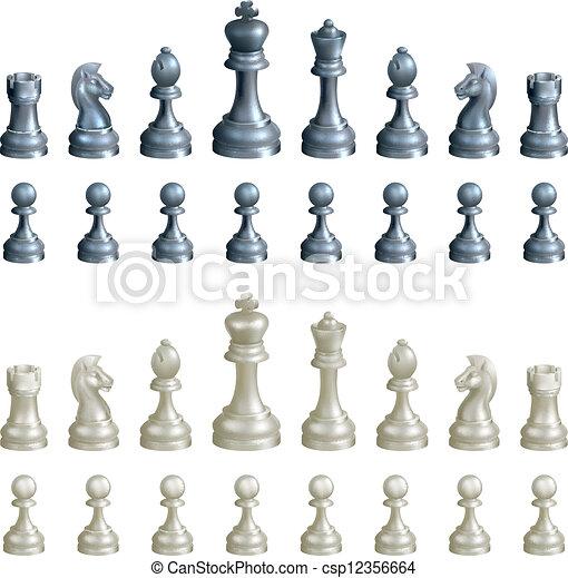 Chess pieces set - csp12356664