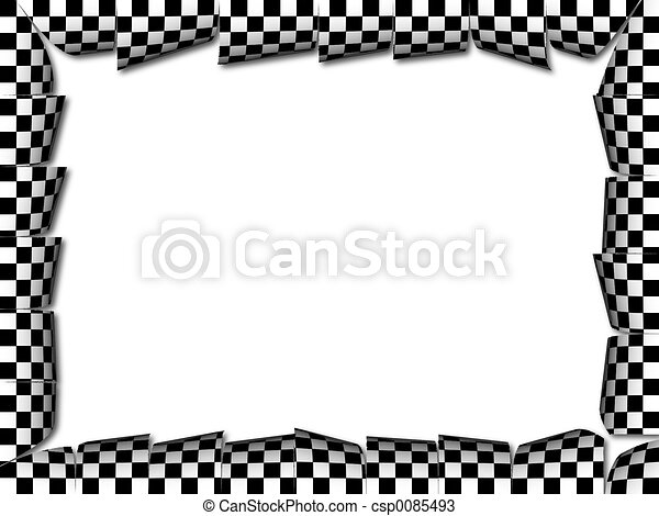 Chess Presentation A Frame With Checkered Pattern