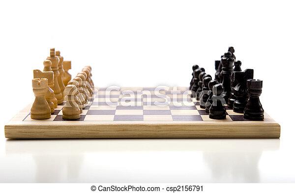 Chess Set on white Background - csp2156791