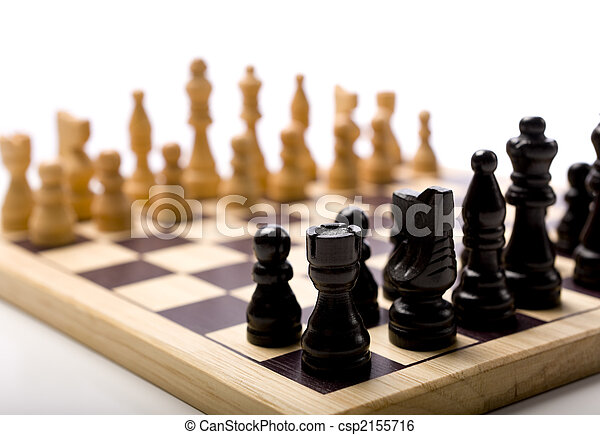 Chess Set on white Background - csp2155716