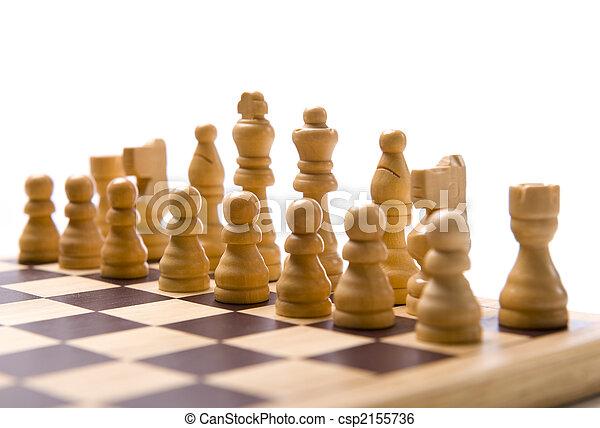Chess Set on white Background - csp2155736