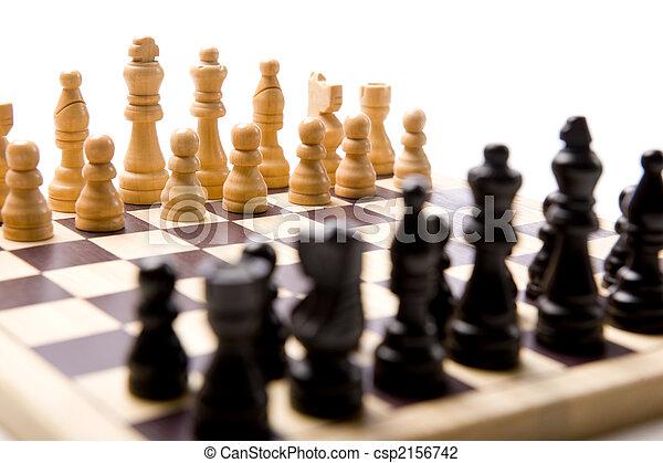 Chess Set on white Background - csp2156742