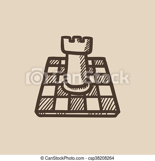 Chess sketch icon. - csp38208264