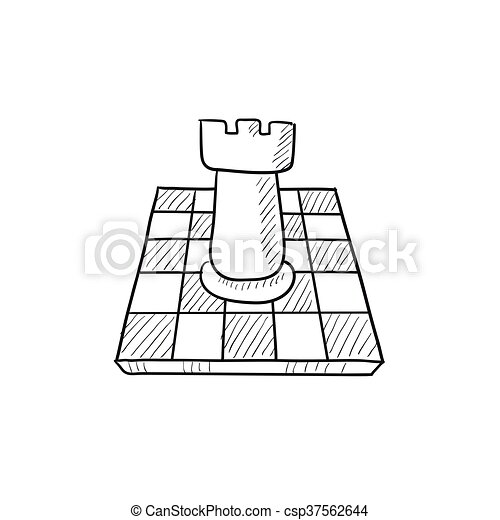 Chess sketch icon. - csp37562644