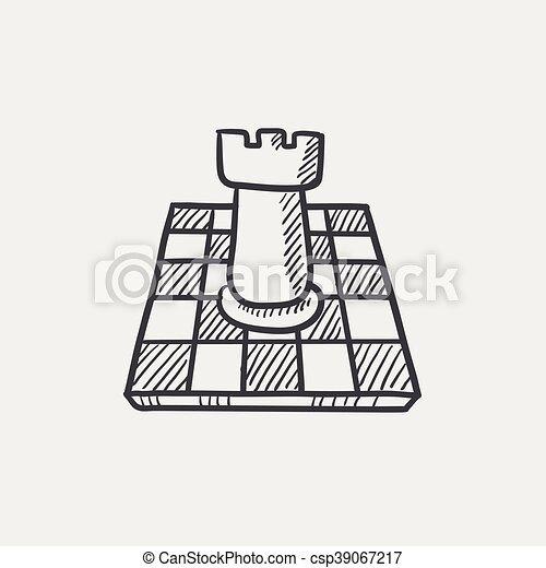 Chess sketch icon. - csp39067217