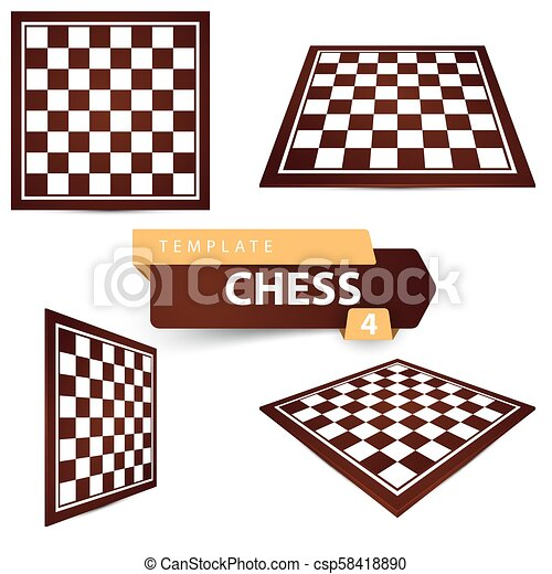 chess template four items game board vector eps 10
