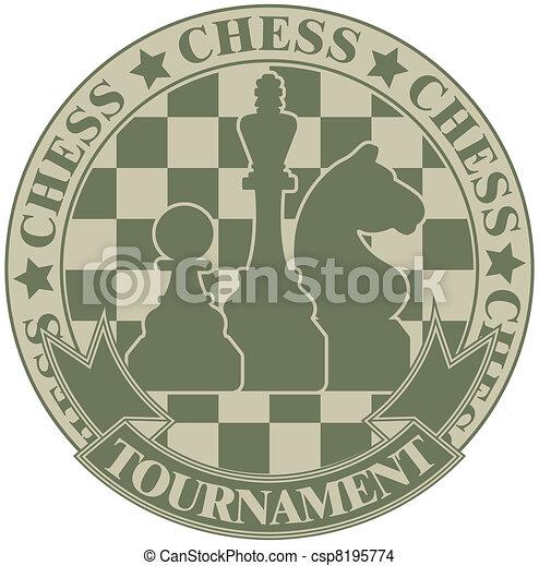 Chess tournament symbol - csp8195774
