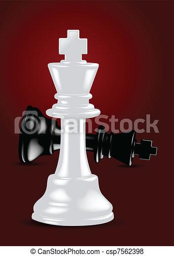 Chess White King - Winner - Vector  - csp7562398