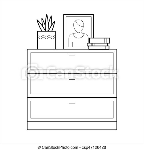 Chest Of Drawers Flat Vector Icon