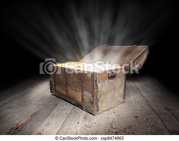 Chest of treasure - csp9474863