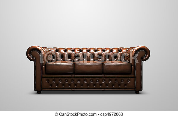 Chesterfield Sofa A 3d Render Of A Chesterfield Sofa